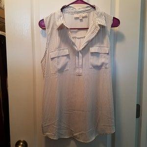 Silky pin stripe dress shirt